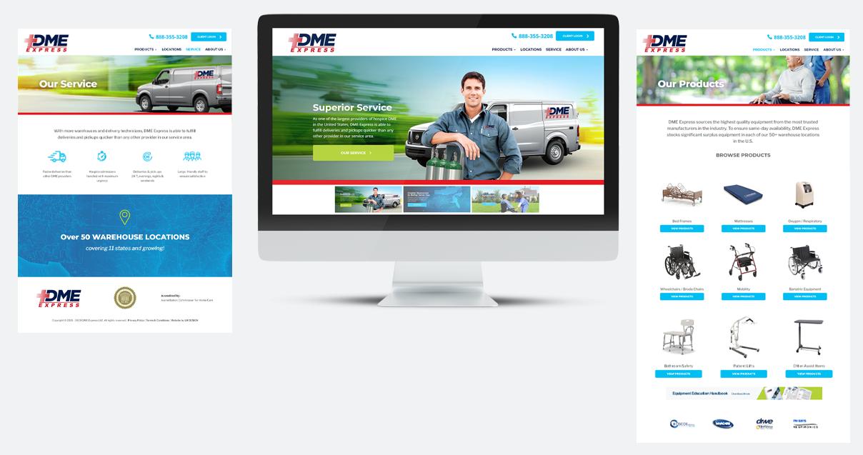 DME Express Website Design